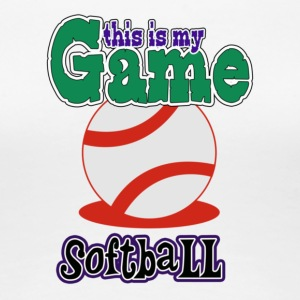 My Game Softball - Women's Premium T-Shirt