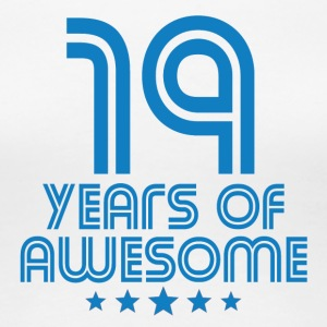 19 Years Of Awesome 19th Birthday - Women's Premium T-Shirt