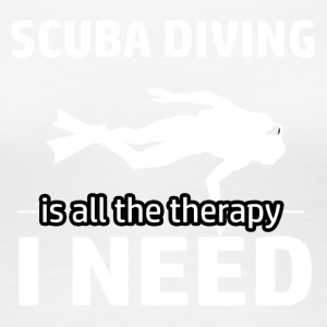 Scuba diving is my therapy - Women's Premium T-Shirt