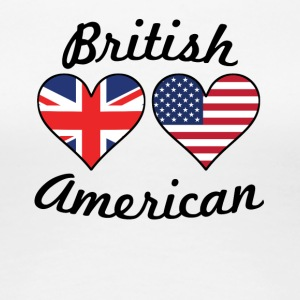 British American Flag Hearts - Women's Premium T-Shirt