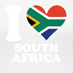 I Love South Africa South African Flag Heart - Women's Premium T-Shirt