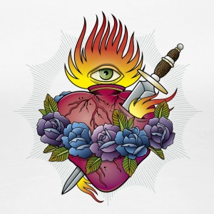 Flaming Heart - Women's Premium T-Shirt