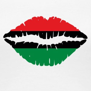 Pan American African Heritage Flag colors Lips - Women's Premium T-Shirt