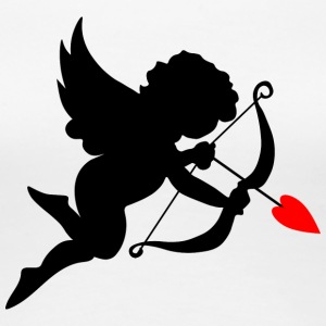 cupid-wings-heart-bow-shape-love - Women's Premium T-Shirt
