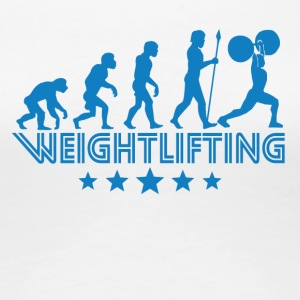 Retro Weightlifting Evolution - Women's Premium T-Shirt