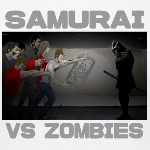 Samurai vs Zombies - Women's Premium T-Shirt