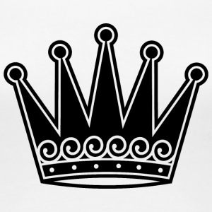 king-royal-crown-black - Women's Premium T-Shirt