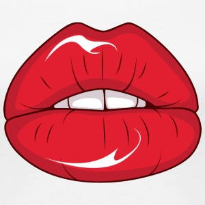 sexy_woman_lips - Women's Premium T-Shirt