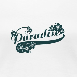 Paradise letter with FLOWERS - Women's Premium T-Shirt