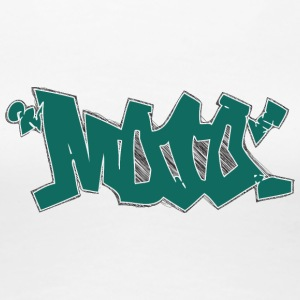 moo_graffiti_dark_green - Women's Premium T-Shirt