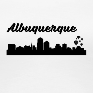 Albuquerque NM Skyline - Women's Premium T-Shirt