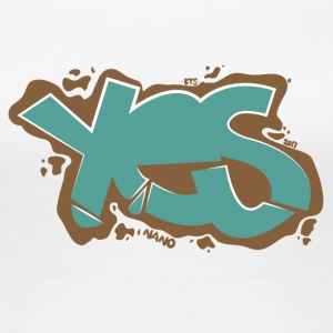 Yes - Graffiti Style - Women's Premium T-Shirt