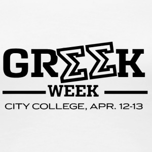 Greek Week City College - Women's Premium T-Shirt