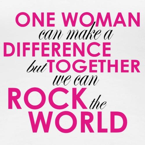 One Woman Black Pink - Women's Premium T-Shirt