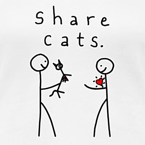 Share Cats - Women's Premium T-Shirt