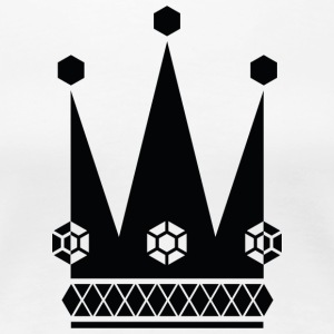 Ornate-black-king-royal-crowns-vector-picture - Women's Premium T-Shirt