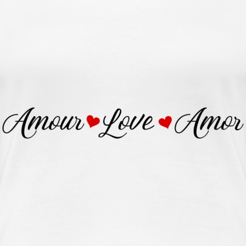 AmourLoveAmor - Women's Premium T-Shirt