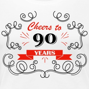 Cheers to 90 years - Women's Premium T-Shirt