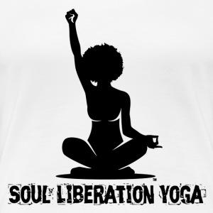 Soul Liberation Yoga, Letter Style #1 - Women's Premium T-Shirt