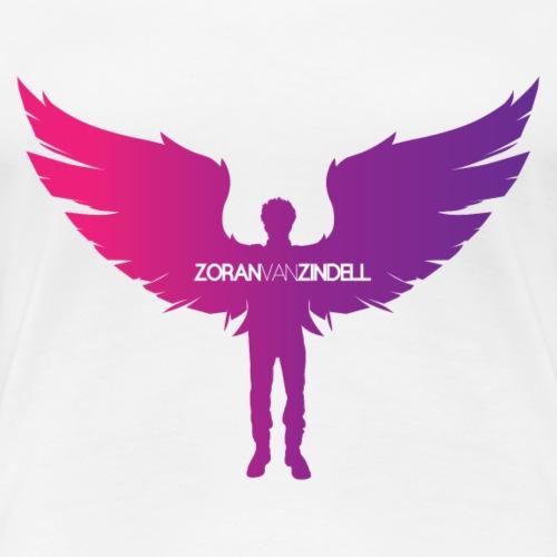ZoranVanZindell Pink Original Women's Logo - Women's Premium T-Shirt