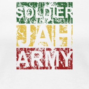 SOLDIER OF JAH ARMY RASTAFARI REGGAE GOD HAILE SEL - Women's Premium T-Shirt