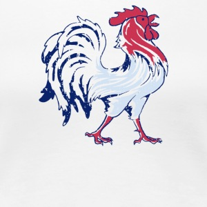 French Flag And Gallic Rooster - Women's Premium T-Shirt