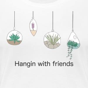 Hangin with friends (black) - Women's Premium T-Shirt