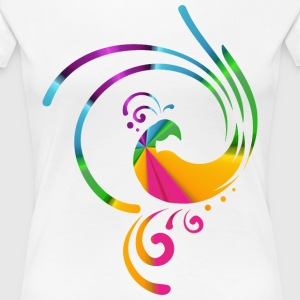 Colorful rolling bird - Women's Premium T-Shirt