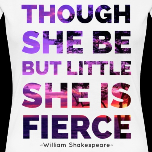 She is Fierce - Shakespeare - purple - Women's Premium T-Shirt