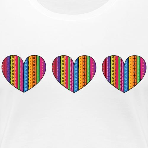 Mexican Hearts - Women's Premium T-Shirt
