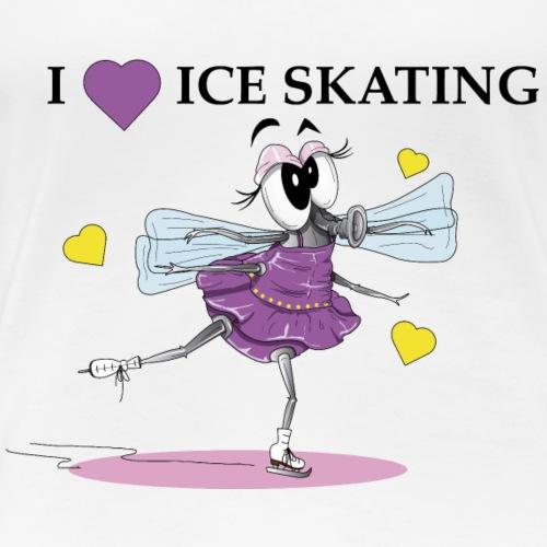 Zanine la Mouche I love ice skating - Women's Premium T-Shirt