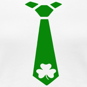 FOREST GREEN ST PATRICKS DAY TIE - Women's Premium T-Shirt