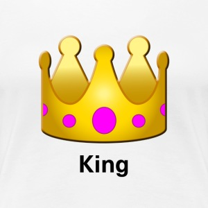 King Crown Design - Women's Premium T-Shirt