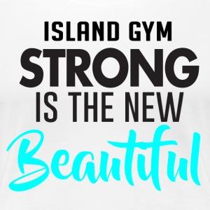 Strong is Baeutiful white IG - Women's Premium T-Shirt
