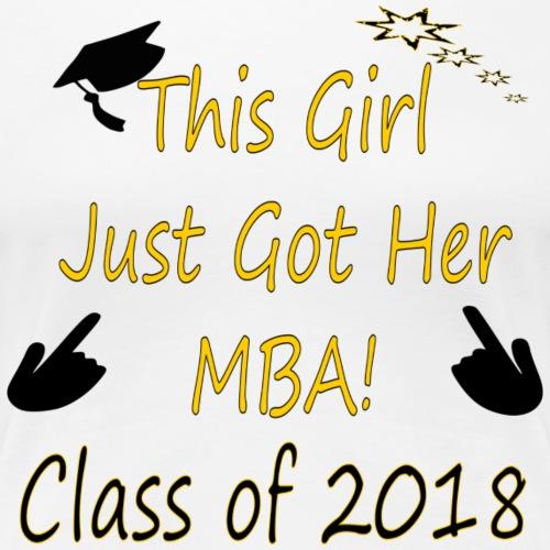 2018 MBA Grad - Women's Premium T-Shirt