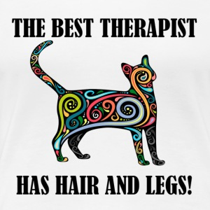 THE BEST THERAPIST - CAT - Women's Premium T-Shirt