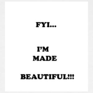 am made beautiful logo - Women's Premium T-Shirt