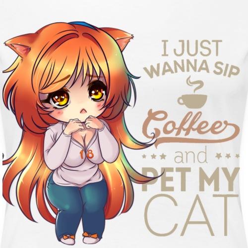 SIP COFFEE PET CAT - Women's Premium T-Shirt