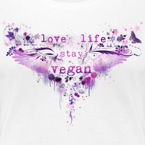 Love Life – Stay Vegan [pink] - Women's Premium T-Shirt