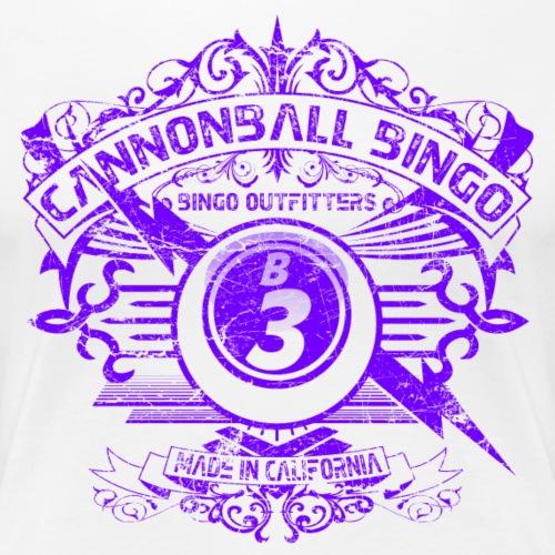 Vintage Cannonball Bingo Crest Purple - Women's Premium T-Shirt