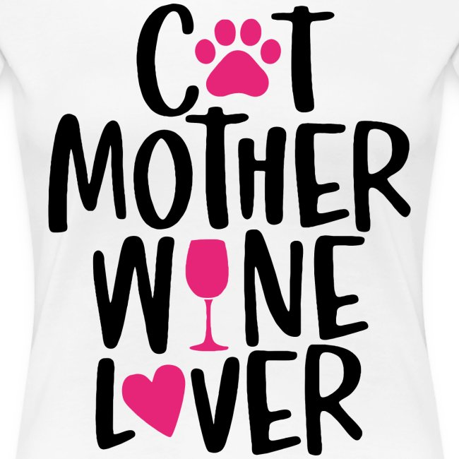 cat mother wine lover