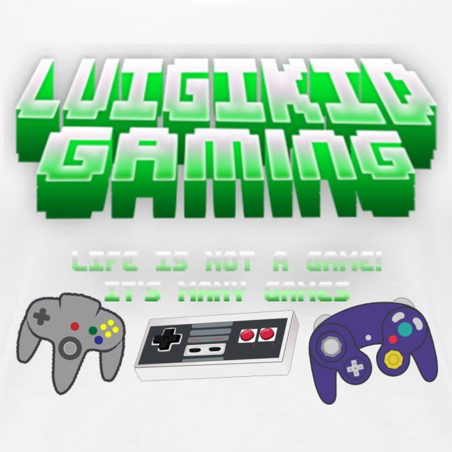 Luigikid gaming life is not a game controllerlogo