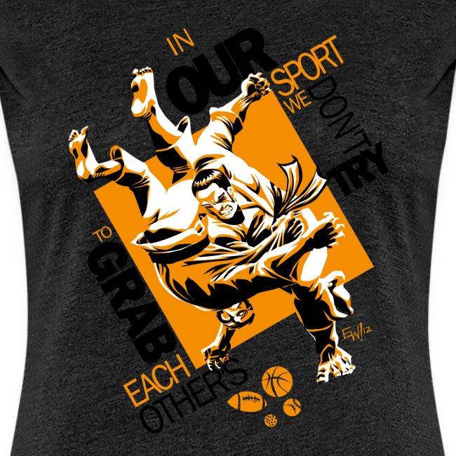 Judo Grab Design for white shirts