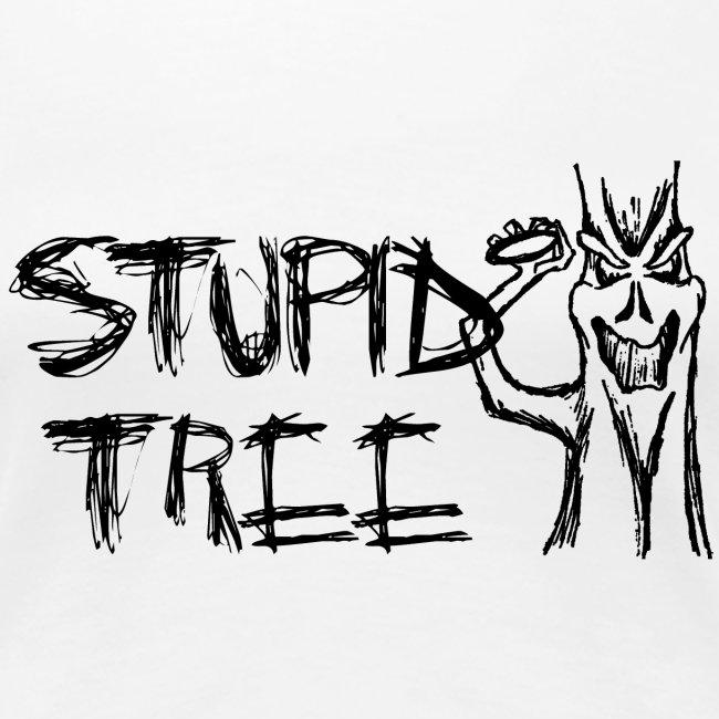 Stupid Tree Disc Golf Shirt Black Print