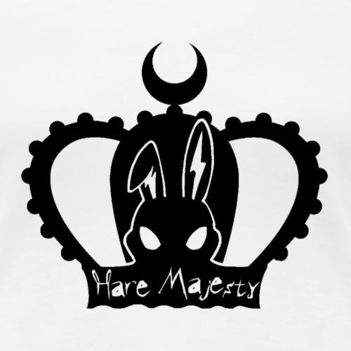 Hare Majesty (Black) - Women's Premium T-Shirt