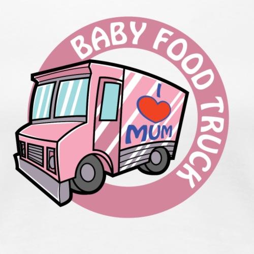 Pink baby food truck - Women's Premium T-Shirt