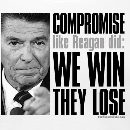 Reagan on Compromise - Women's Premium T-Shirt