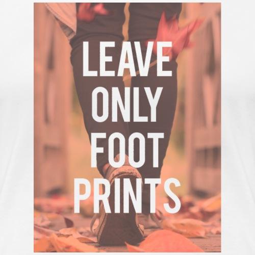 Footprints - Women's Premium T-Shirt