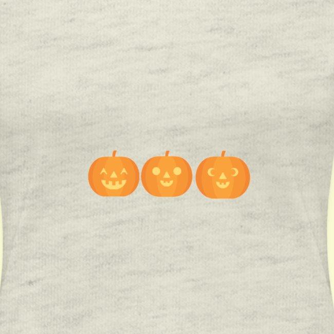 3 carved pumpkins