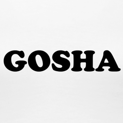 GOSHA ORIGINAL (BLACK) - Women's Premium T-Shirt